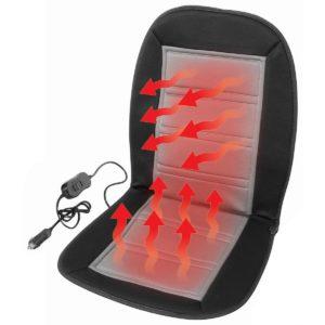 Compass Potah sedadla vyhřívaný s termostatem 12V LADDER šedý  - Natahovací elastický potah