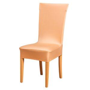 Potah na židli béžový  - Natahovací elastický potah