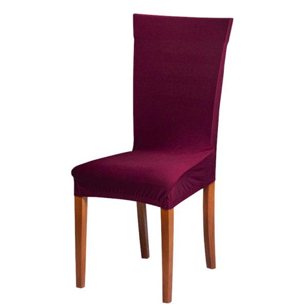Potah na židli vínový  - Natahovací elastický potah