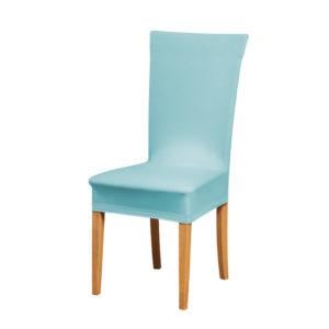 Potah na židli světle modrý  - Natahovací elastický potah
